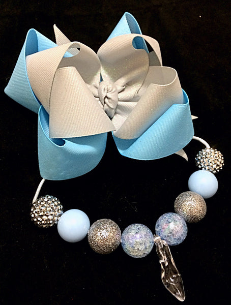 Cinderella necklace and bow set
