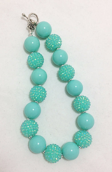 Aqua chunky necklace