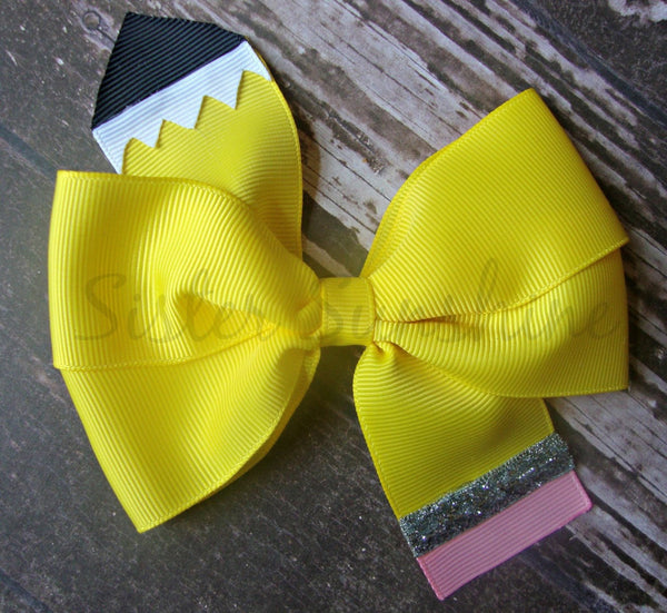 Pencil hair bow