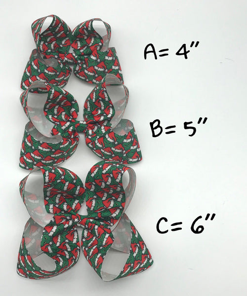 Grinch wide ribbon bows