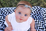 Striped Knotted bow headband