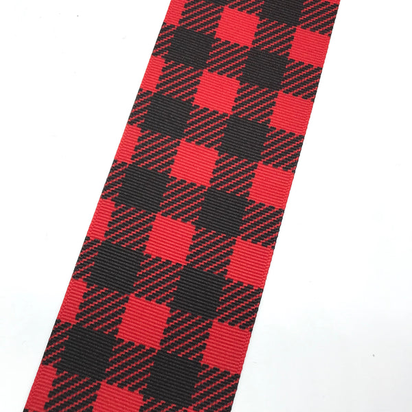 Black/RedBuffalo plaid wide ribbon