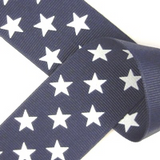 Navy Blue with White Stars