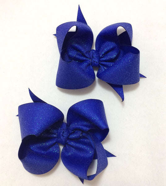 Royal blue glitter piggies