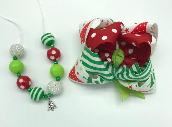 Christmas bow and/or necklace