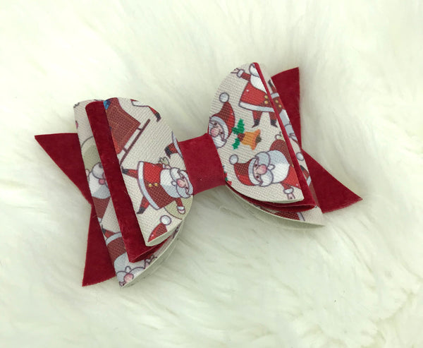 Triple stacked Santa bow