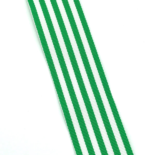 Green & White Stripe