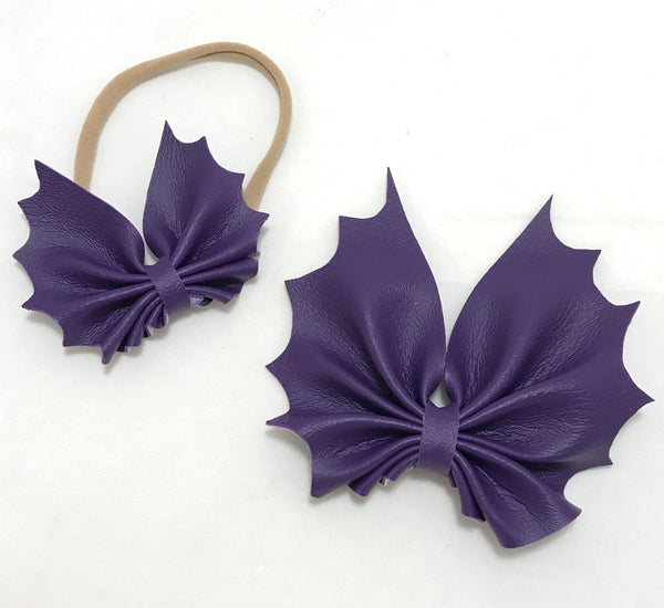 Purple bat bow