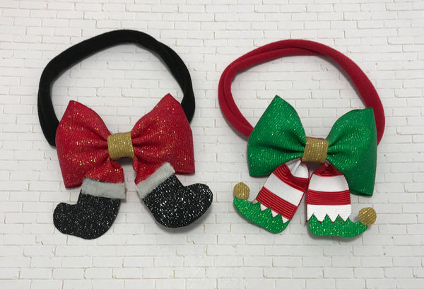 Elf and Santa headbands