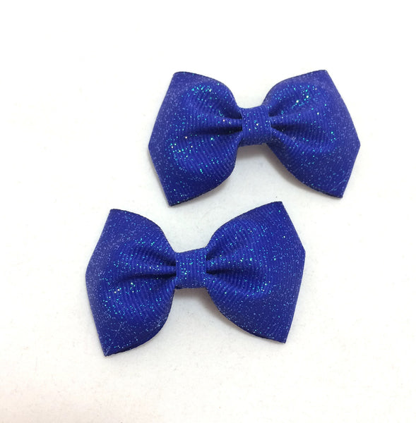Royal blue glitter mini piggies