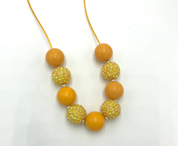 Mustard breakaway necklace