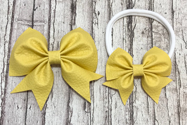 Yellow Addison Bows