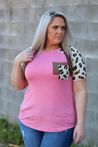 Sylvie Pink Double Leopard Pocket