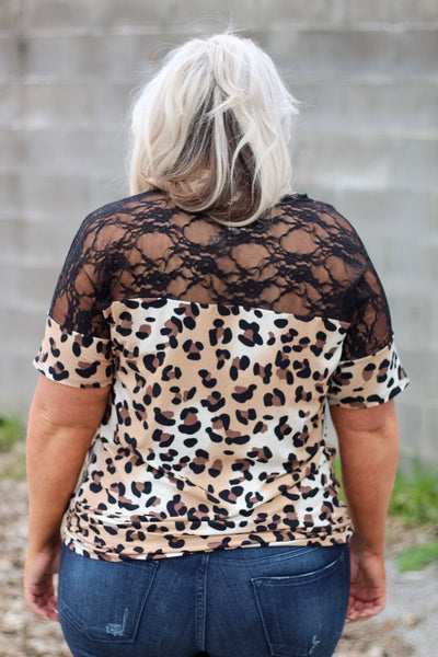 Sophie Lace and Leopard Top