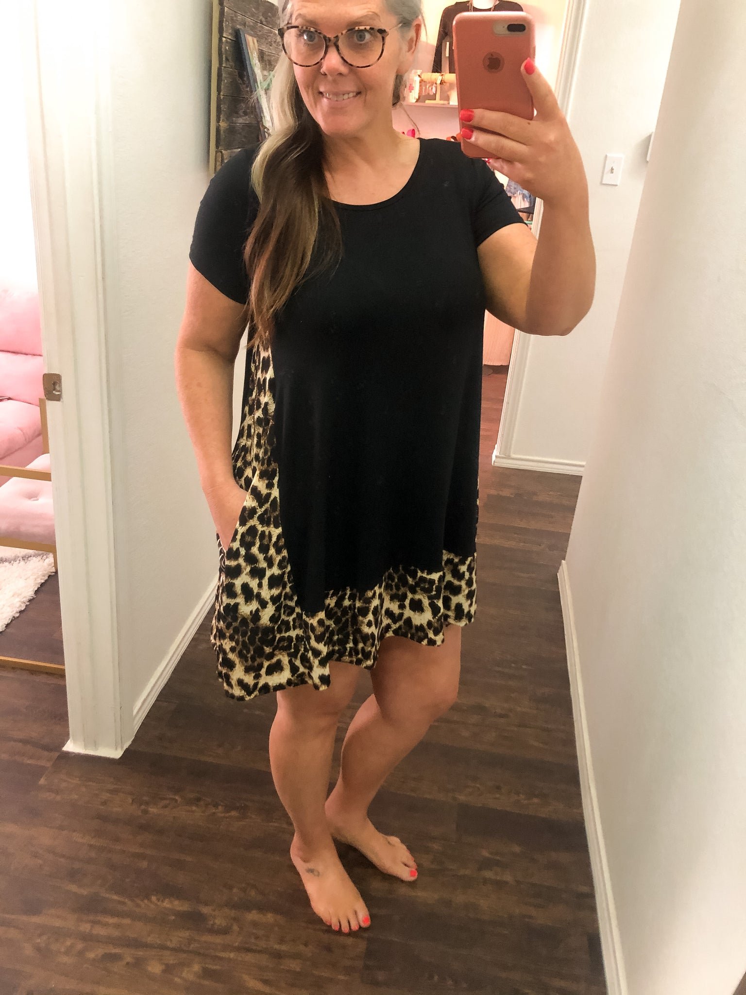 Jenna Black and Leopard Dress