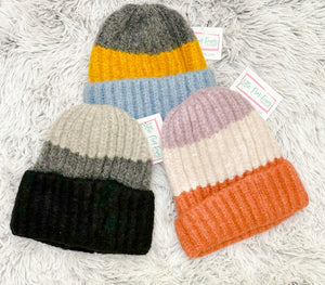 Colorblock Knit Beanie