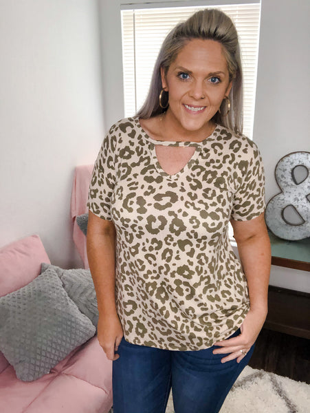 Jewel Leopard Top