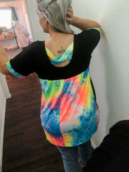 Erika Tie Dye Back Top