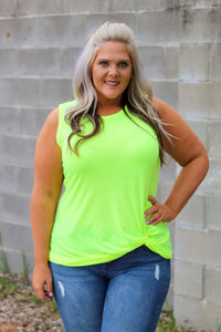 Karli Neon Yellow Tank