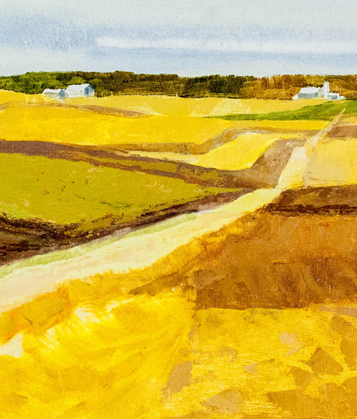 "Roy Austin ""North of Waterloo"" Oil on Board, 1994"