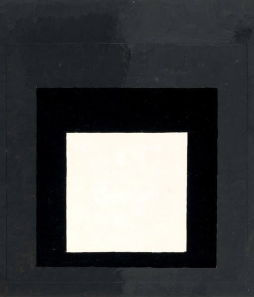 "Josef Albers ""Color Study' Oil on Paper, 1959"