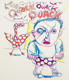 "Daniel Johnston ""Quack"" Limited Edition Hand Signed Print, 1982"