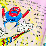 "Daniel Johnston ""Space Ducks: An Infinite Comic Book Of Musical Greatness"", Hand Signed by Artist, 2012"