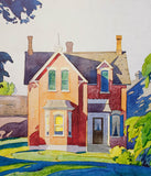 "Alfred Joseph Casson ""Old House on Bayview"" Serigraph, 1991"