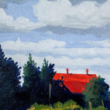 "Hugh Thompson ""Barn Near Cambridge, Moore's Farm"" Oil on Board, 2004"