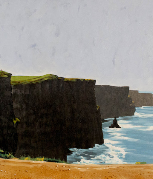 "Hugh Thompson ""Cliffs of Moher, County Clare"" Oil on Canvas, 2001"