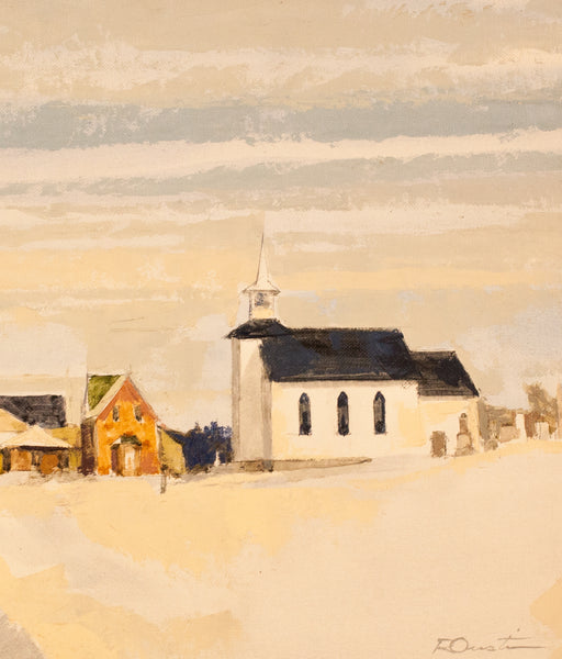 "Roy Austin ""St. Mary's Church"" Oil on Board, 1994"
