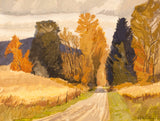 "Roy Austin ""Stauffer Road"" Oil on Board, 1994"