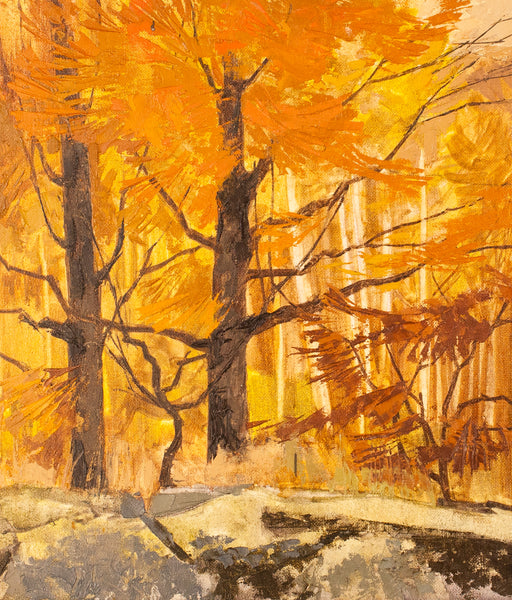 "Roy Austin ""Autumn Maples"" Oil on Board, 1995"