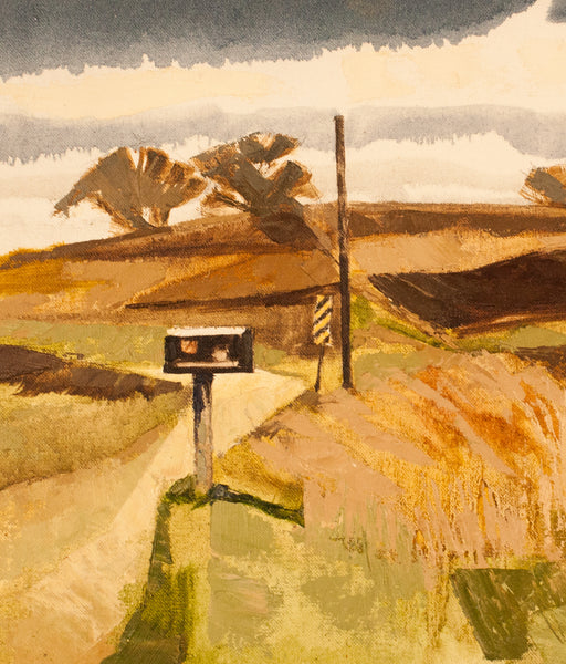 "Roy Austin ""Settler's Road #2"" Oil on Board, 1994"