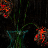 "Marie Felscherinow ""Red Roses In The Dark"", Oil on Wood, 2020"