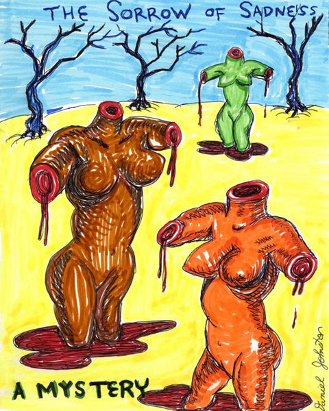 "Daniel Johnston ""The Sorrow Of Sadness"" Limited Edition Hand Signed Print, 2018"
