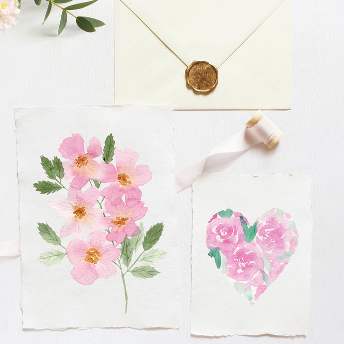 Easy Watercolor Valentine's Day Cards