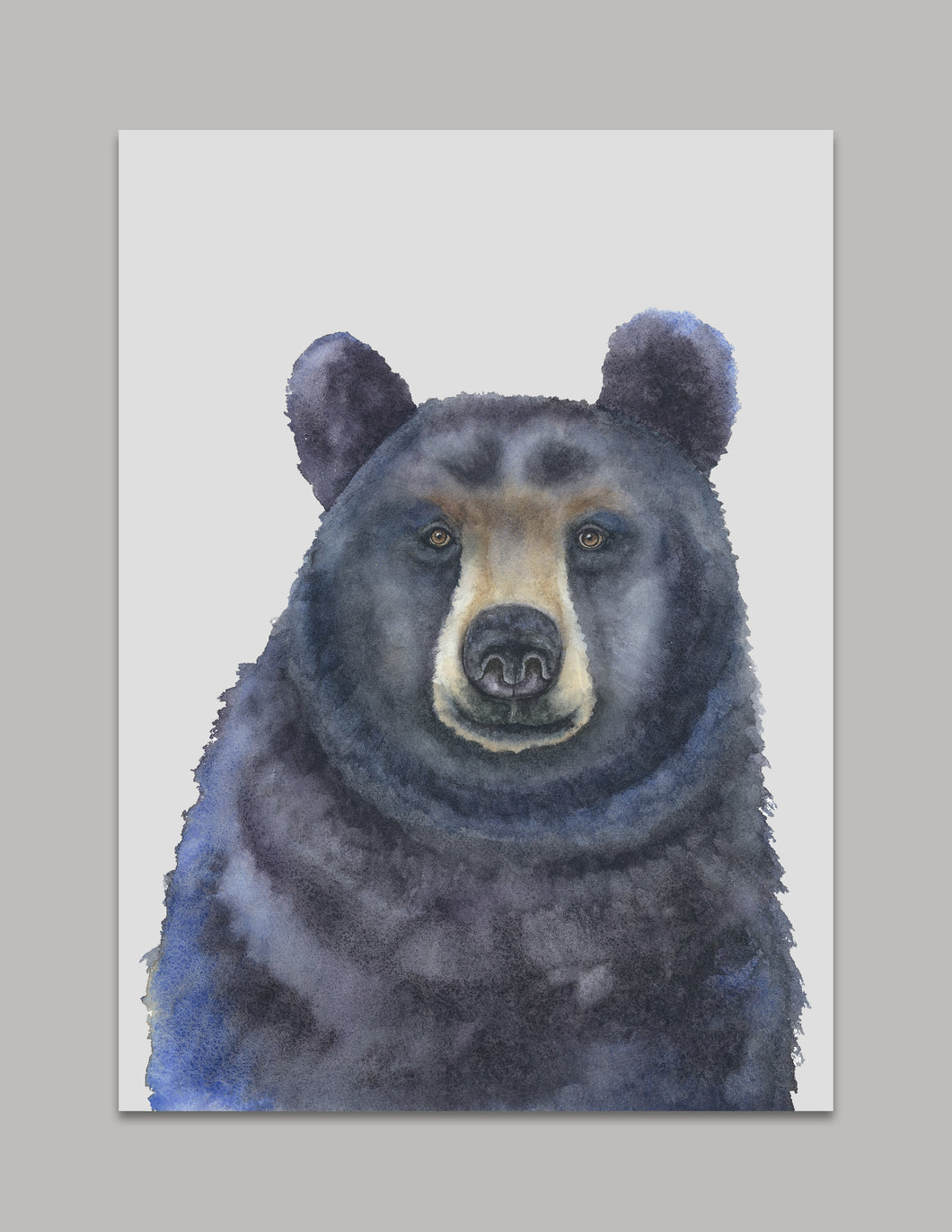 Watercolor Black Bear Art Print