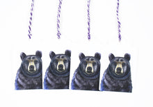 Black Bear Watercolor Gift Tags