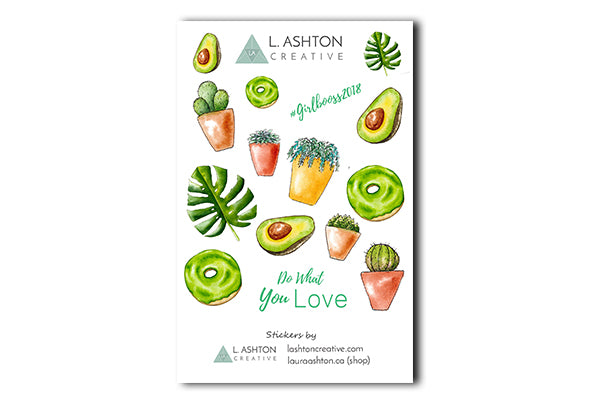 photo relating to Printable Sticker Sheet titled Cactus and Property Crops Printable Sticker Sheet