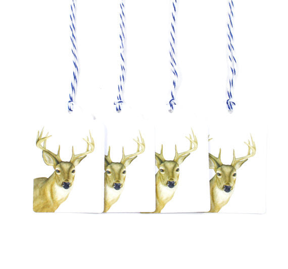 White-tailed Deer Holiday Gift Tags