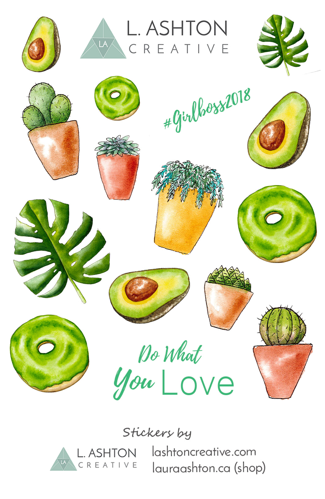 photo about Printable Sticker known as Cactus and Room Crops Printable Sticker Sheet