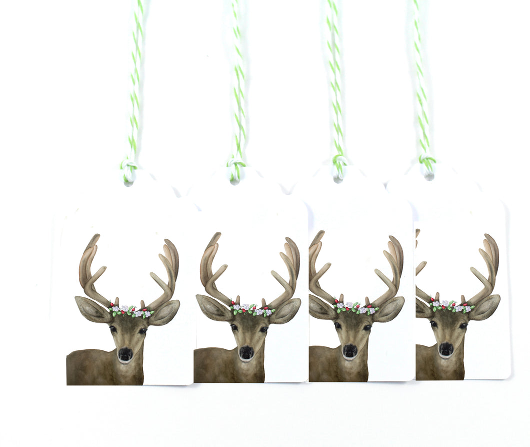 Holiday Stag Gift Tags