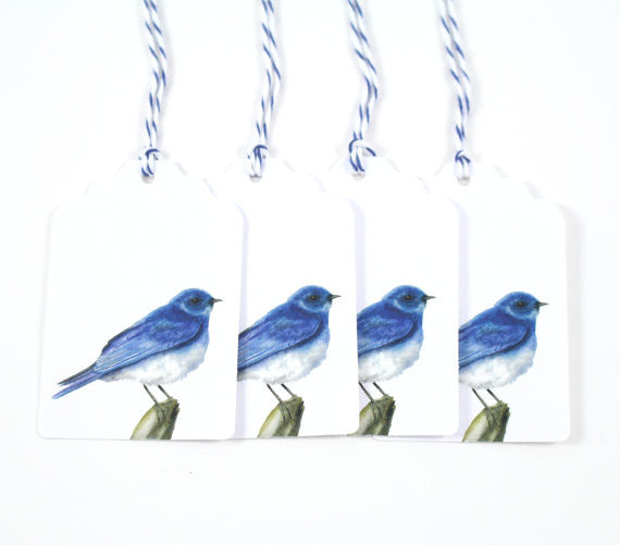 Mountain Bluebird Gift Tags