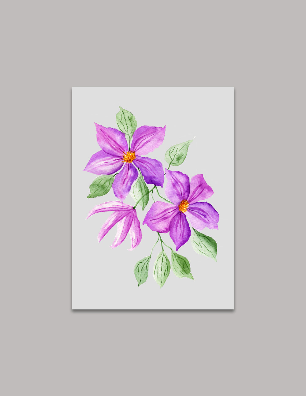 Clematis Original Painting
