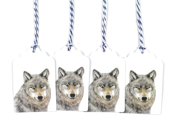 Gray Wolf Holiday Gift Tags