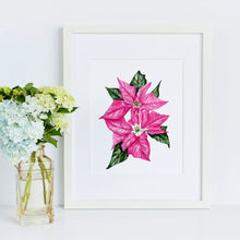 Pink Poinsettia Original Painting