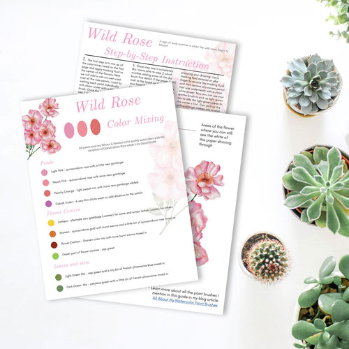 Watercolor Wild Rose Painting Guide