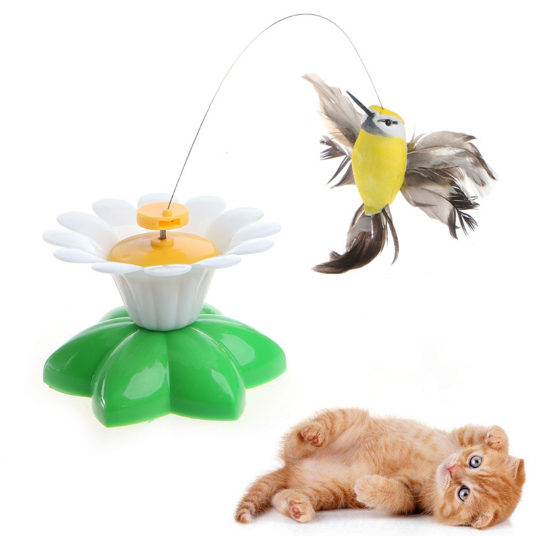 Adorable Spinning Hummingbird Toys For Cats