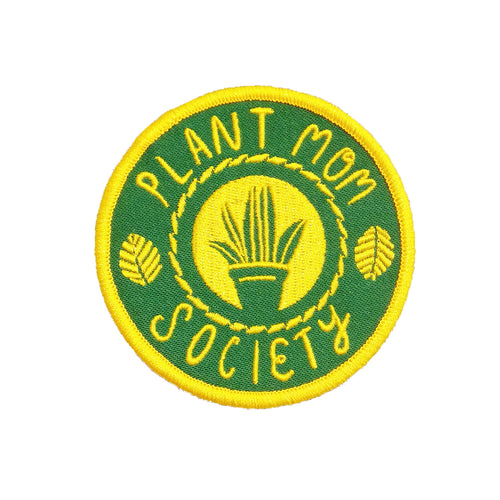Jackie Lee Plant Mom Society Iron On Patch